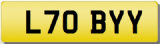 TOBY L Private Cherished Registration Number Plate   TOBY